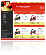 Red e-shop template